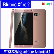 "100% Original Bluboo Xfire 2 MTK6580 Quad Core 5"" HD IPS Android 5.1 Cellphone 8MP CAM 1GB 8GB GPS Fingerprint ID Cheap Mobile"