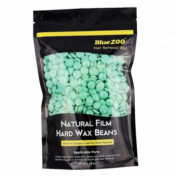 BLUEZOO Newest 250g 10 Flavors high quality hard depilatory wax hair removal hard wax beans