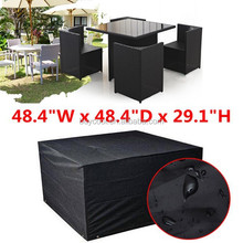 Waterproof Cube Set Cover Table Chair Shelter Garden outdoor Patio Furniture RAIN Cover