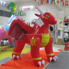 Inflatable Flame Dragon Cartoon Characters , Inflatable Red Dragon Toy For Sale