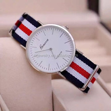 2016 Vogue Custom Logo Watches Wholesale Nylon Men Fashion Watch
