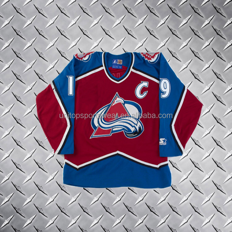 Professional Free Custom Colorado Avalanche Jersey By Sublimation printing