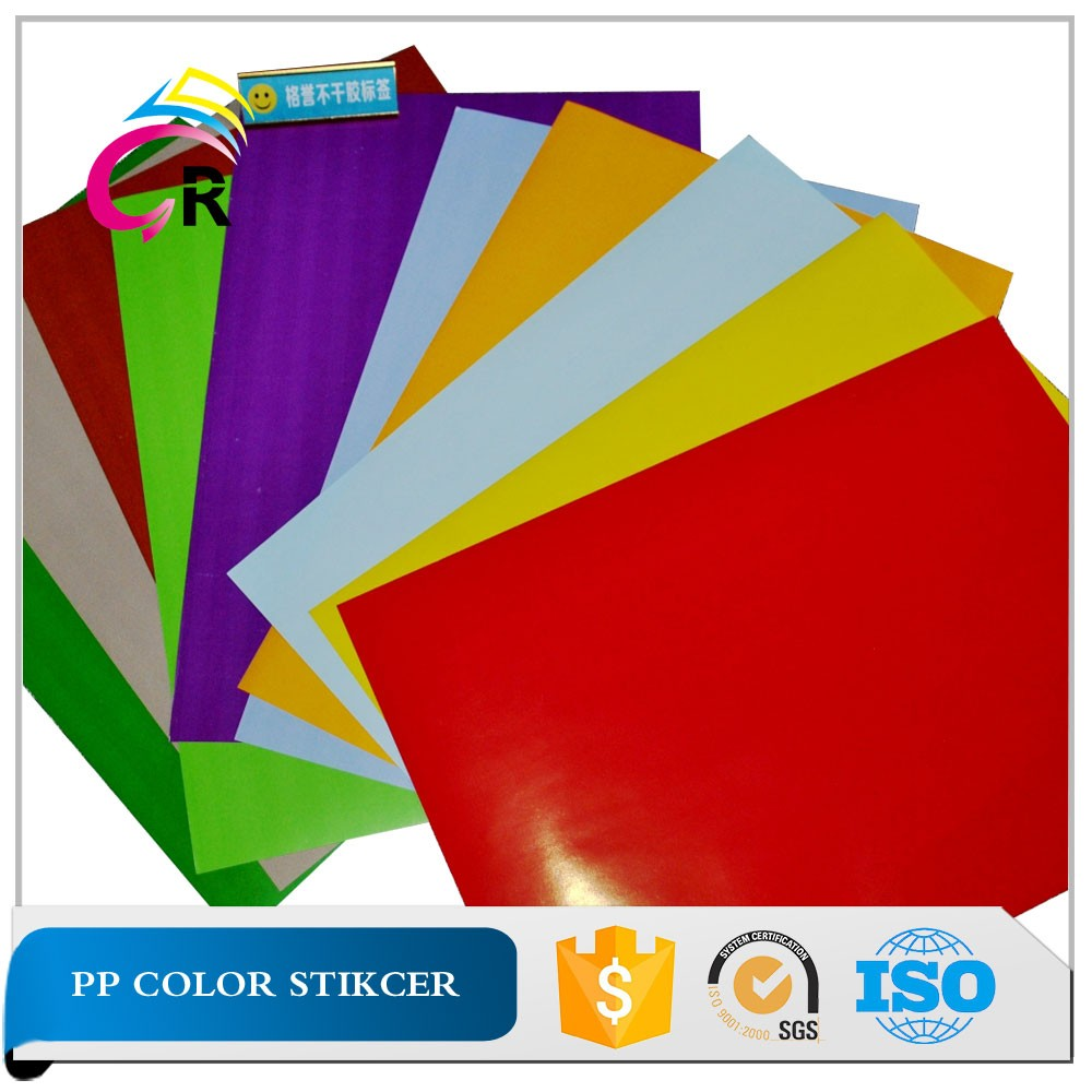 PP Synthetic self-adhesive paper A4 color sticker