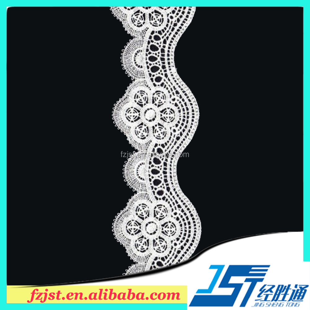 White water soluble lace fabric for wedding invitations