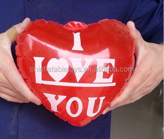 Factory inflatable heart shape