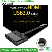 TYPE C to HD-MI multifunctional adapter with USB3.0 output