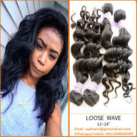 Mona Hair fast selling product factory sale directly 8a loose wave no tangle quality filipino virgin hair wholesale