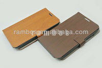 Galaxy Note 2 N7100 Leather Case Cover Pouch Flip Slim Cover Wooden Pattern