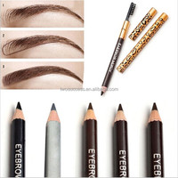 Professional Waterproof Aluminum Leopard With Brush Double Eyebrow Pencil