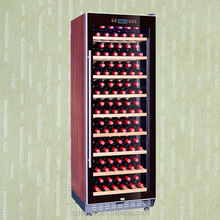 Wooden shelves / racks brown colour Compressor SRT-128 Wine refrigerator