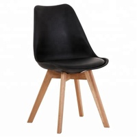 modern leather french oak wood dining chairs