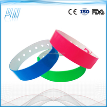 YN - 1200 L shape vinyl event wristbands with shinning color , pvc cheap customized wristbands for holiday festival