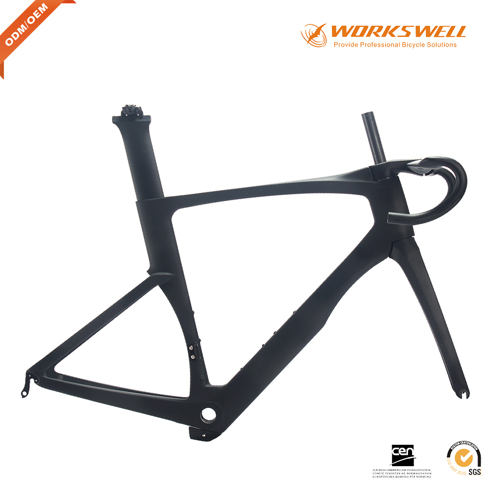 WORKSWELL NEW Mold oem toray t700 monocoque carbon frame t700 carbon fiber carbon frame monocoque bike frame