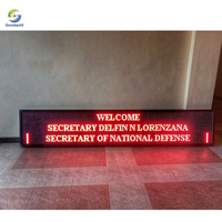 running message text led display single red white color outdoor semi outdoor p10