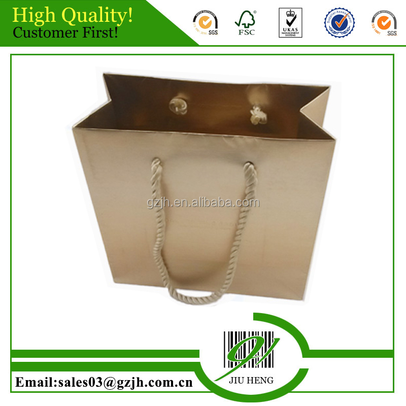 golden paper shopping bags printing for women