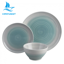 12 Pieces Gradient Color Hand-painted Swirl Corelle Dinnerware Sets