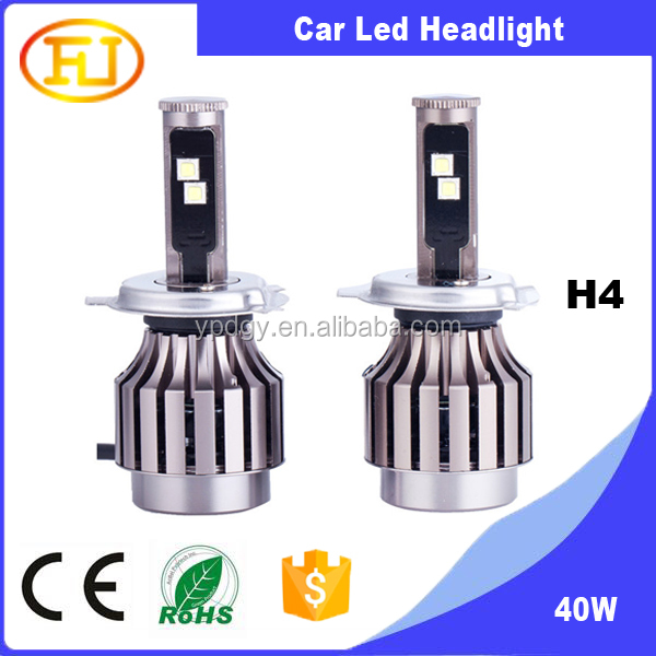 H4 6000K Hi/Low Beam for Navara,Hilux,Toyota camry LED Headlight h4 led headlight High Power Headlight Cr ee LED Headlight Car