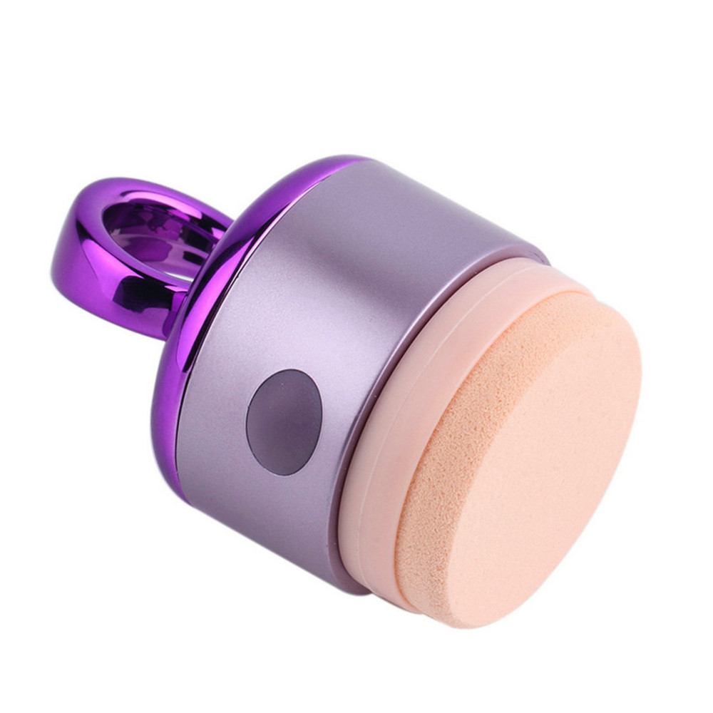 Top Quality Electric Vibration Sponge Refillable Smoothly Foundation Makeup Powder Puff With Stick