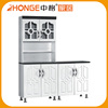 China Luxurious Black and White Water Resistant Kitchen Cabinet for Iran