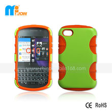 pc+silicon case for Blackberry Q10 mobile phone protector case