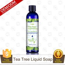 OEM/ODM Natural Tea Tree Liquid Hand Soap Hand Wash Hotel Soap 302ml Manufacturer Supply