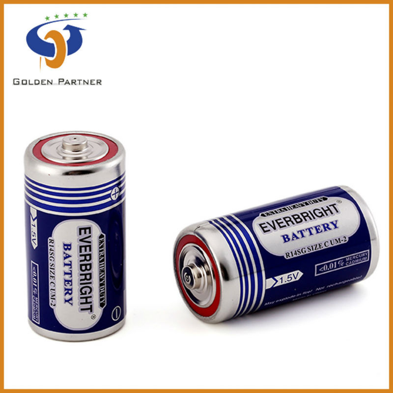 C 1.5v R14 UM-2 zinc carbon high power battery