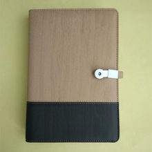 leather cover notebook with usb and powerbank