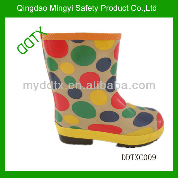 DDTX colorful printed lightweight girls' jelly wellies boot