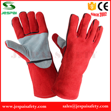 14' cotton lining red long hand safety glove