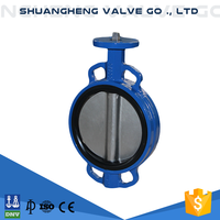 Factory price wafer type butterfly valve