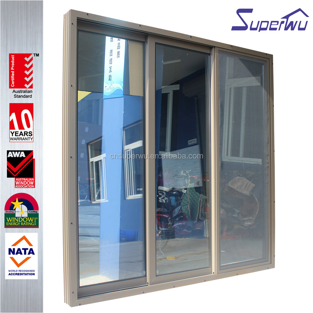 Australia as2047 standard aluminum frame slide door with 10 years warranty