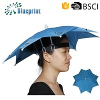 Mini Wholesalers BSCI Double Sun Hat Head Umbrella End Cap