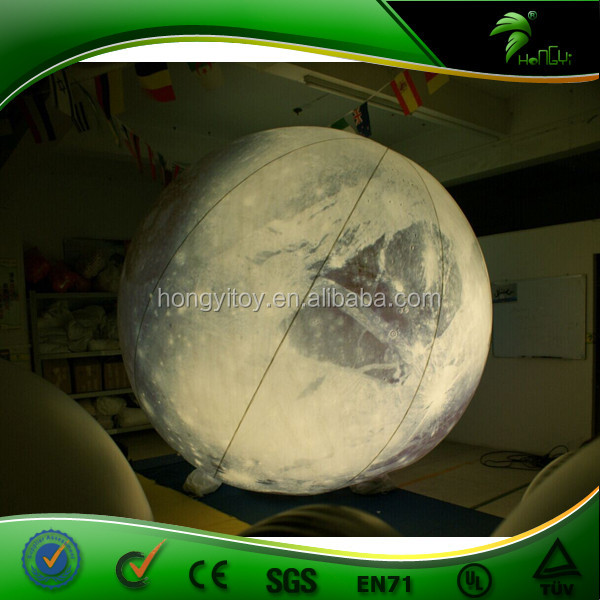 Custom Size Inflatable Lighting Moon Inflatable Sphere Planets Shape Balloons for Decoration