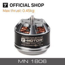 T-MOTOR MN1806 KV1400 KV2300 2-3s professional mini electric drone motor for rc airplane