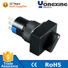 16mm 16a 250v 3 pin 2 way 2 position oven 5 speed fan rotary switch
