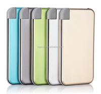 Inbuilt micro usb cable slim power bank wholesale in alibaba best selling 6000mAh