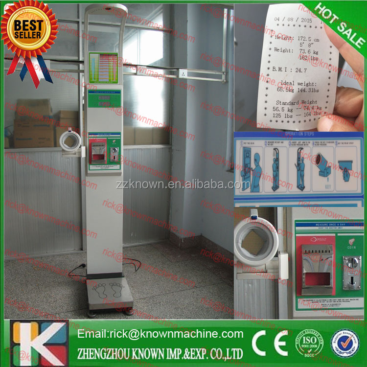electronic height and weight measuring machines/human body weighing scale