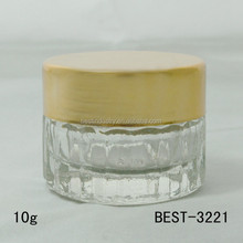 2015 hot sale new clear glass raw material,wholesale good packaging cosmetic cream jars sell well in india