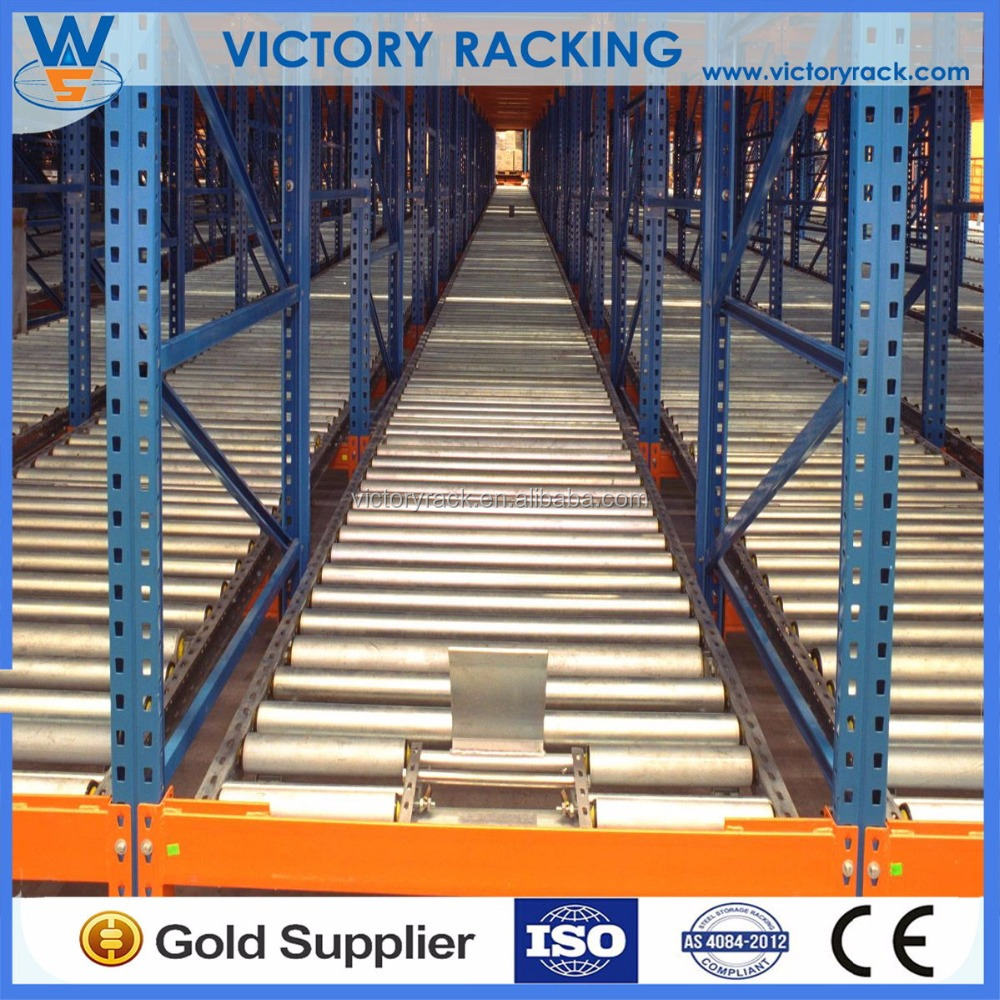 Durable Heavy Duty Warehouse Storage Steel Gravity Slide Pallet Rack with CE Cetification