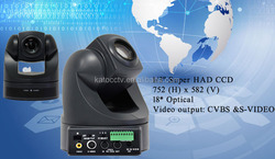 hot sell model DC12V 18x RS232/422 video conferencing SD camera