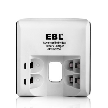 EBL Portable 1.2V Battery Charger 2 Slot for AA AAA Ni-MH Ni-CD Rechargeable Batteries