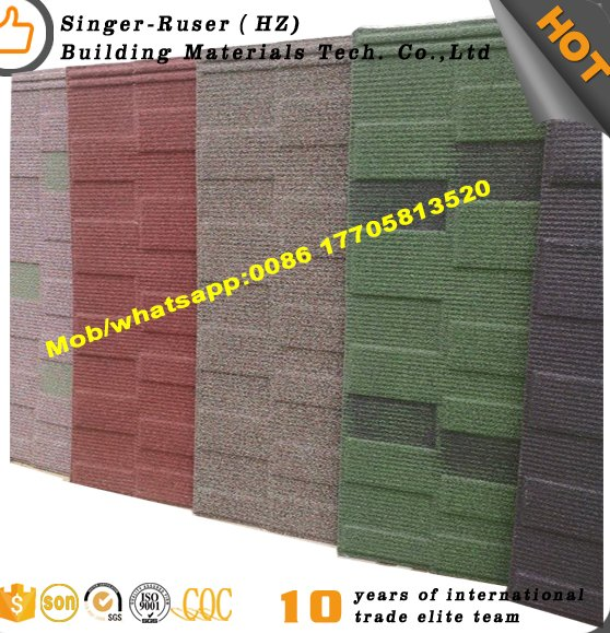 Classical Design Stone Coated Roofing Tile With Metal Building Materials