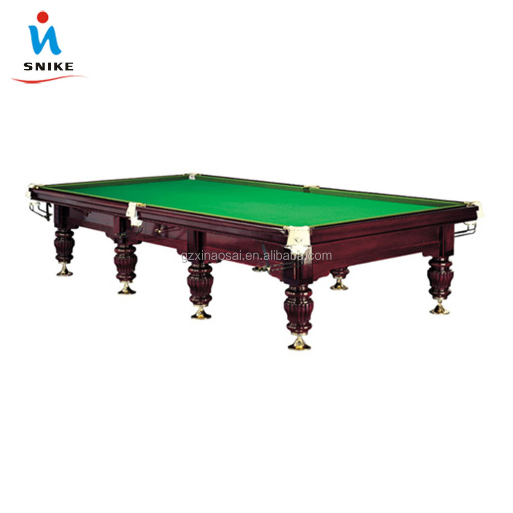 Cheap Golden (Solid Wood 45mm Slate and Steel Cushion)12ft International Standard English 10ft Snooker Table