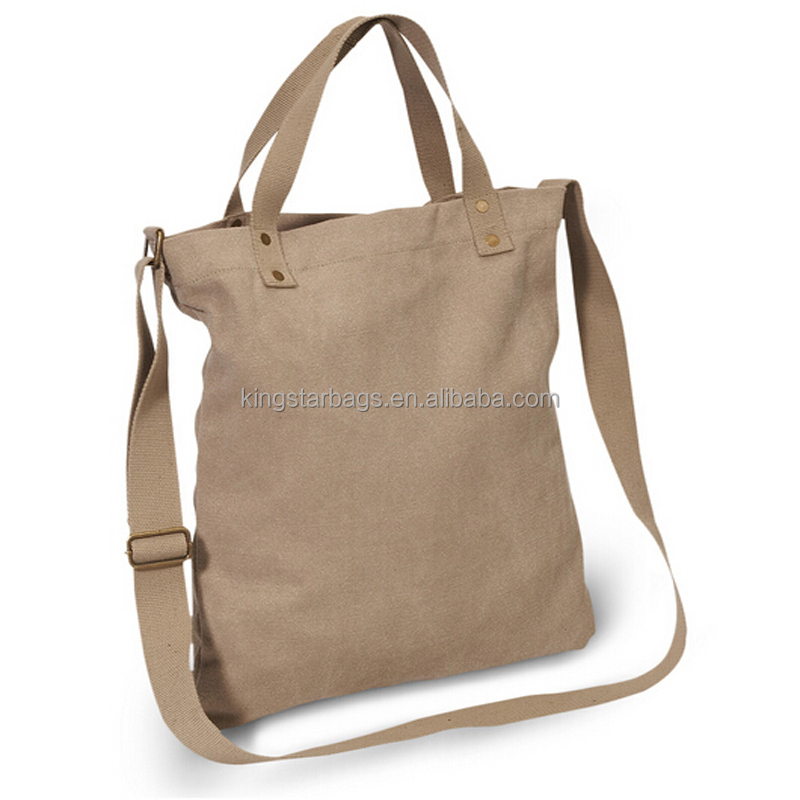 16oz Cotton Canvas Tote Bag With Adjustable Shoulder Strap Made In China