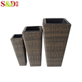 Wholesale PE rattan home garden flower pot for nursery