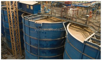 Double impeller leaching and agitating tank