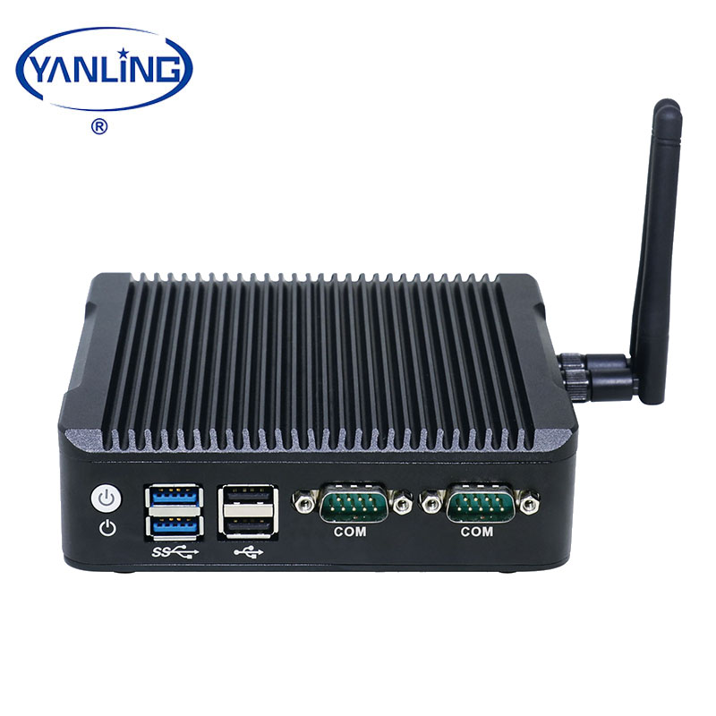 Small nano itx motherboard N3160 fanless barebone 2HDMI 6 port USB PC