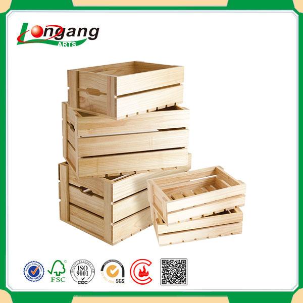 Wood apple crate wholesale wooden fruit crates for sale for Buy wooden fruit crates