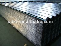 corrugated roofing sheet wave depth:16(+/-2)mm pitch of wave: 76(+/-2)mm ISO9001:2000 galvanized corrugated steel sheet