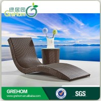 Outdoor wicker sun lounges swimming pool rattan beach chair